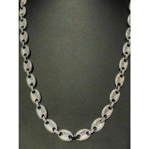HarlemBling 925 Silver 12mm Gucci Link Necklace